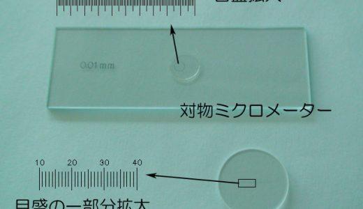 顕微鏡の操作-対物ミクロメーター・接眼ミクロメーターの使い方-