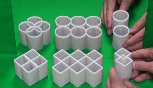 【錯視】明治大学教授が発明した見方によっては丸が四角に変化する物体が凄すぎる