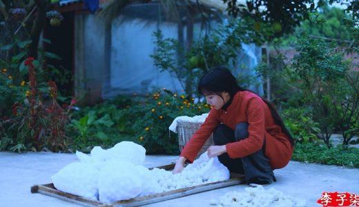 カイコの繭(絹)を何重にも重ねて高級布団を作り出す中国の伝統工芸がすごい