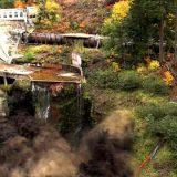 撤去が決まったダムを水抜きする様子がダイナミックすぎる!