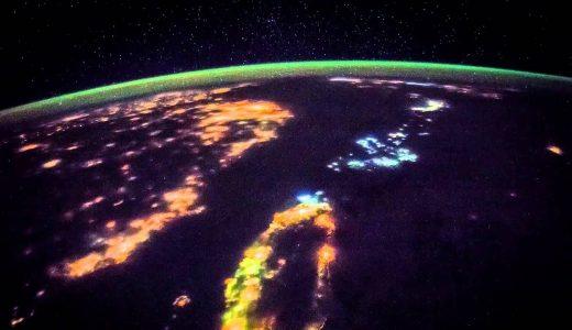 国際宇宙ステーション(ISS)から見たドラマチックすぎる日本の夜景