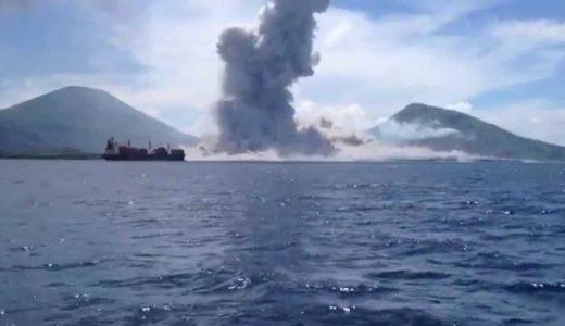 【地球すごい】パプアニューギニアの山が噴火する様子を撮影してみた