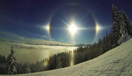 太陽の周りにもう1つの光が見える「幻日(げんじつ)」が神秘的すぎる