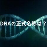 DNAの正式名称は何?
