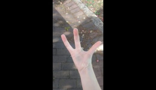 指が3本しかないのにあまり違和感を感じさせない女性