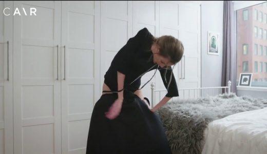 麻痺した腕を持つ女性が器用に服を着る様子を撮影してみた