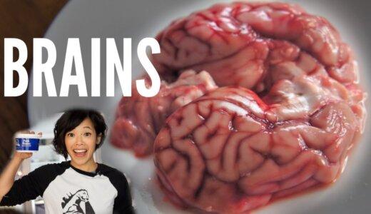 【動画】脳を調理して食べる女性、焼くとけっこうおいしそう